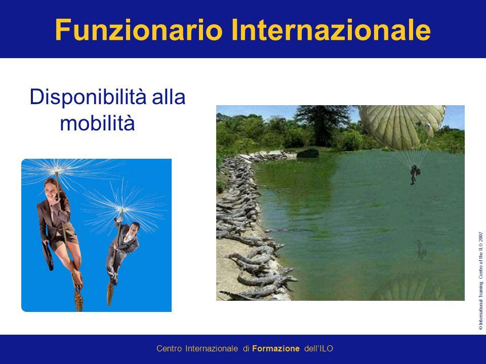 © International Training Centre of the ILO 2007 Centro Internazionale di Formazione dellILO Funzionario Internazionale Disponibilità alla mobilità