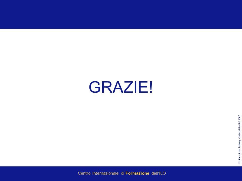 © International Training Centre of the ILO 2007 Centro Internazionale di Formazione dellILO GRAZIE!