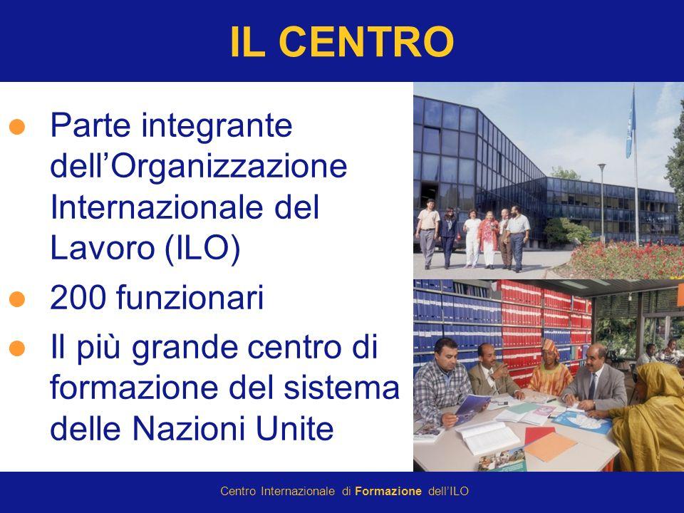 © International Training Centre of the ILO 2007 Centro Internazionale di Formazione dellILO IL CENTRO Parte integrante dellOrganizzazione Internazionale del Lavoro (ILO) 200 funzionari Il più grande centro di formazione del sistema delle Nazioni Unite