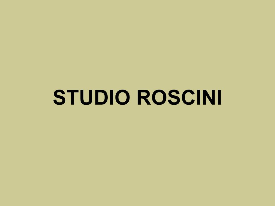 STUDIO ROSCINI