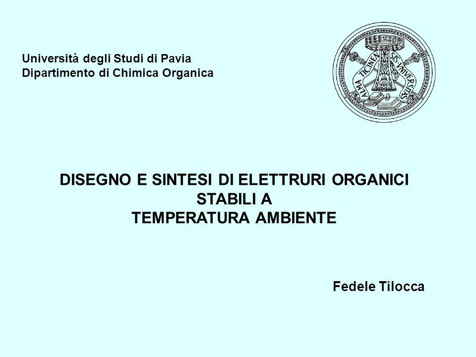 DISEGNO E SINTESI DI ELETTRURI ORGANICI STABILI A TEMPERATURA AMBIENTE Università degli Studi di Pavia Dipartimento di Chimica Organica Fedele Tilocca