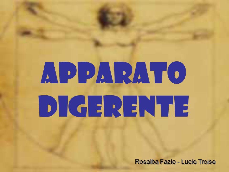 APPARATO DIGERENTE Rosalba Fazio - Lucio Troise