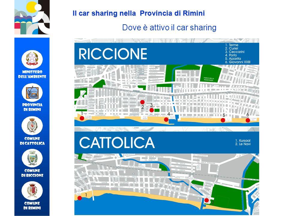 Dove è attivo il car sharing Il car sharing nella Provincia di Rimini