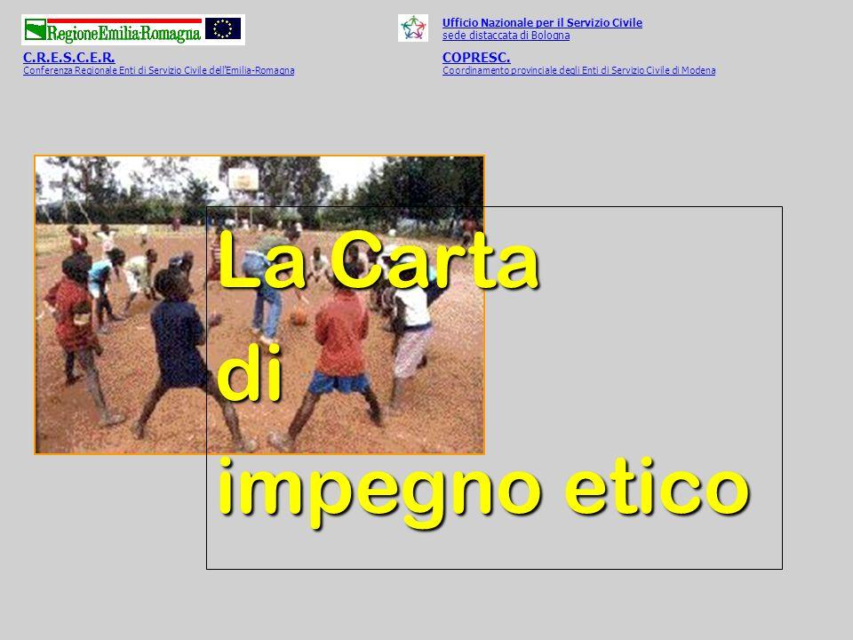 Ufficio Nazionale per il Servizio Civile sede distaccata di Bologna C.R.E.S.C.E.R.