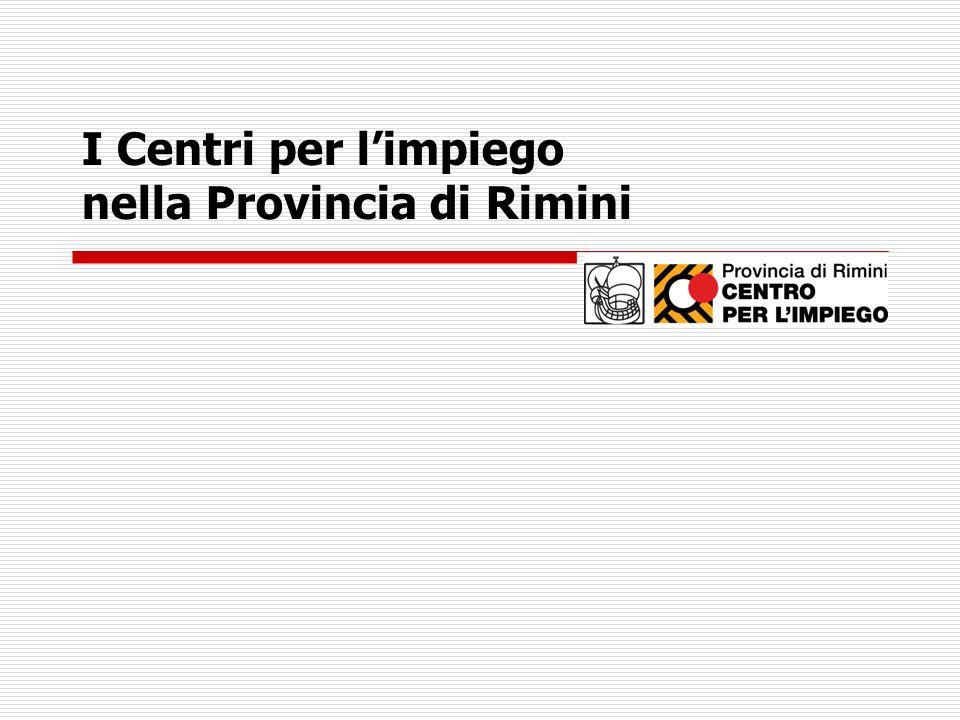 I Centri per limpiego nella Provincia di Rimini