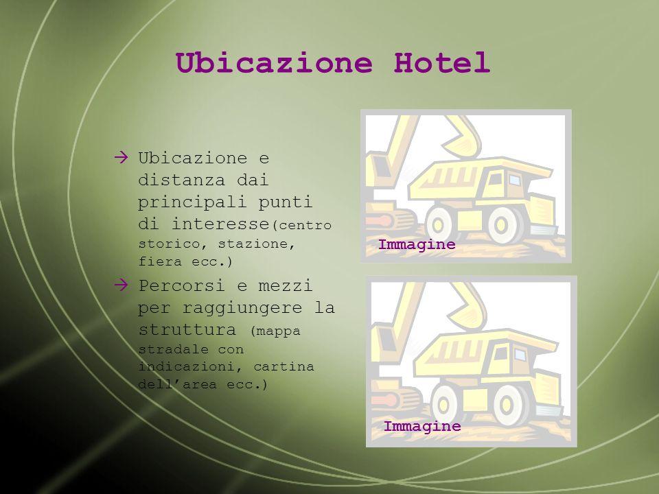 Presentazione Hotel Nome, logo e slogan Indirizzo completo Categoria ufficiale Immagine