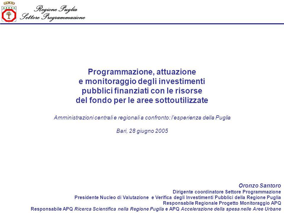Regione Puglia Settore Programmazione LIntesa Istituzionale di Programma della Regione Puglia – 3 di 6