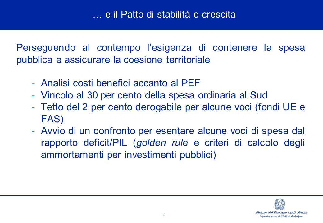 8 ùEMLA PERDITA DI COMPETITIVITà AND CHANGES Sono 311 gli Accordi stipulati per un ammontare di investimenti – allultimo monitoraggio - pari a oltre 63 miliardi di euro di cui il 17 per cento con risorse private.