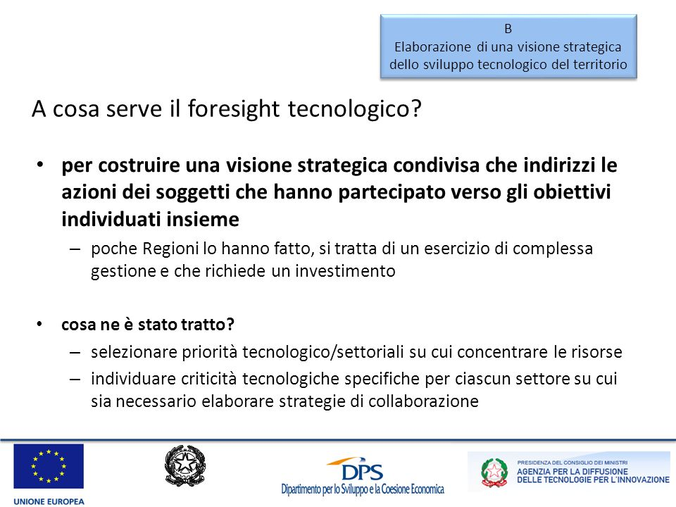 Come si fa un foresight tecnologico.