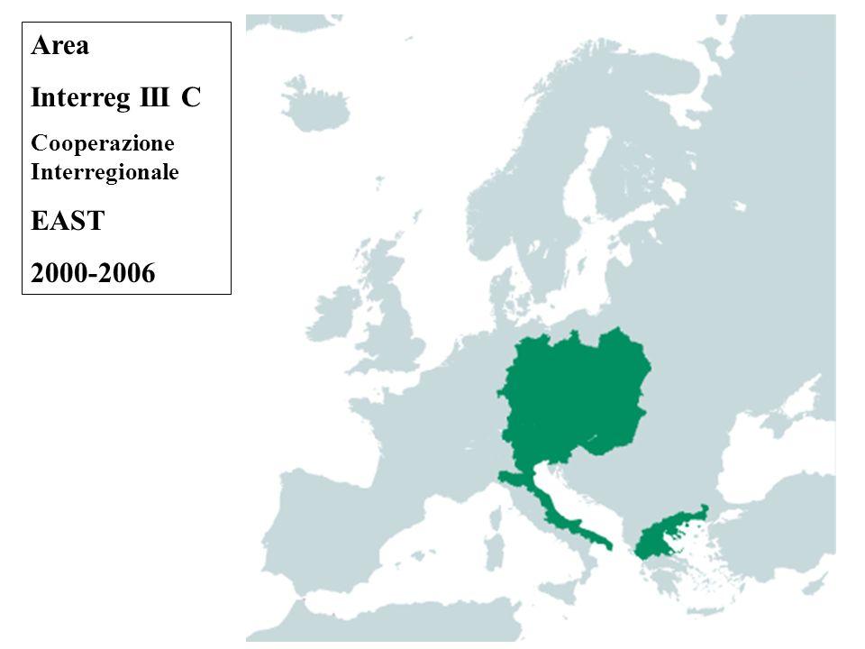 Area Interreg III C Cooperazione Interregionale EAST 2000-2006
