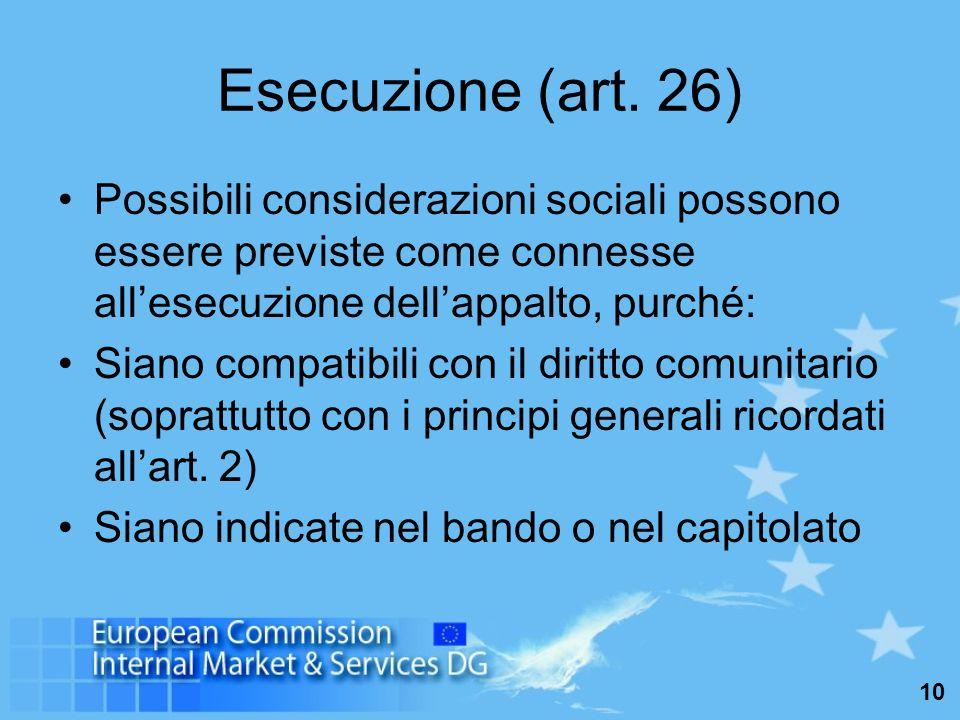 10 Esecuzione (art.