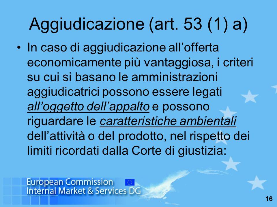 16 Aggiudicazione (art.