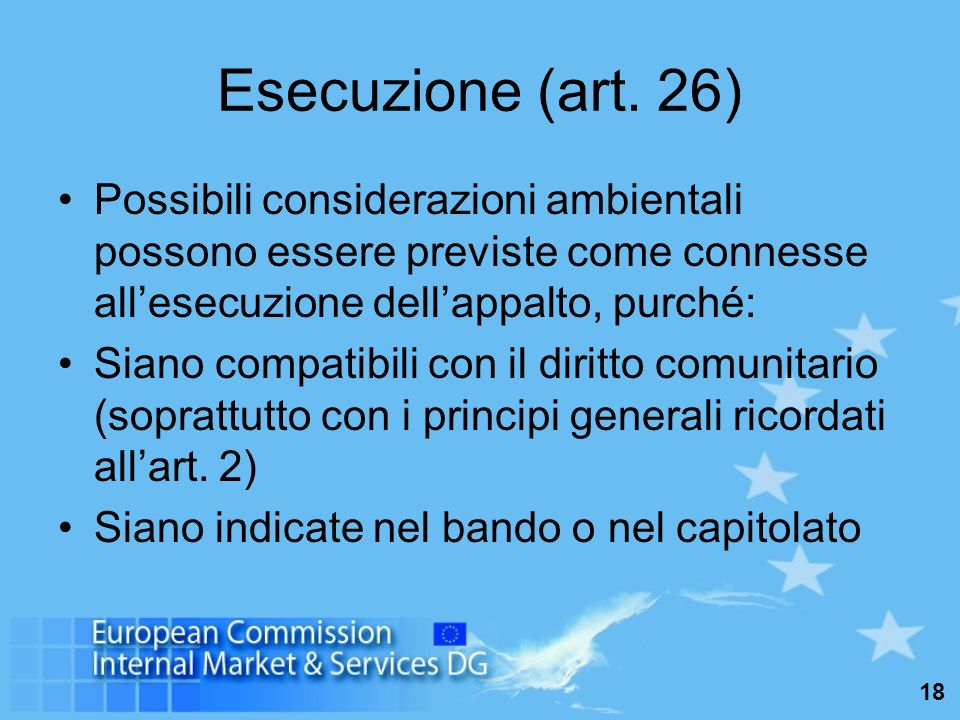 18 Esecuzione (art.