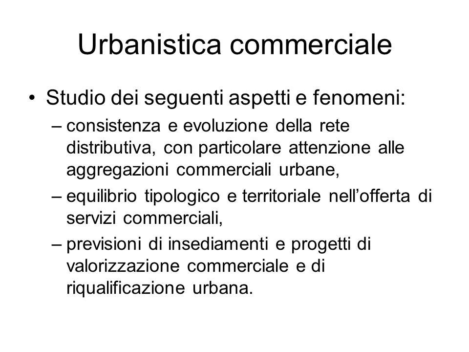 Pianificazione urbanistica commerciale Due concetti essenziali: la sostenibilità e lequilibrio: –Sostenibilità nellurbanistica commerciale significa valutare gli effetti degli insediamenti commerciali.