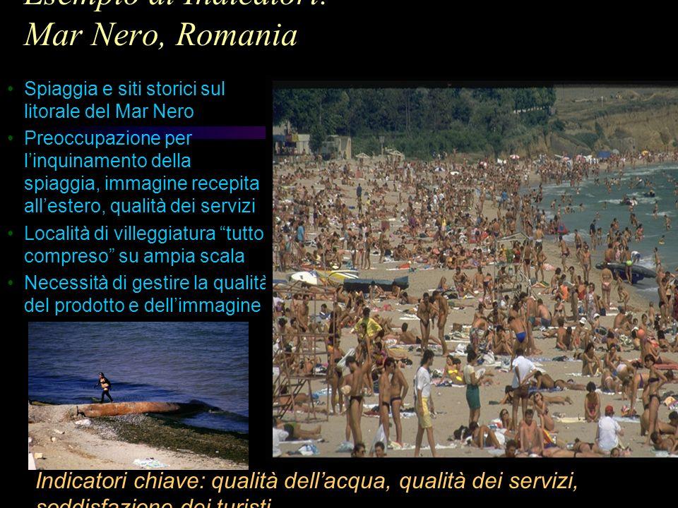 Esempio di Indicatori: Mar Nero, Romania Spiaggia e siti storici sul litorale del Mar Nero Preoccupazione per linquinamento della spiaggia, immagine r