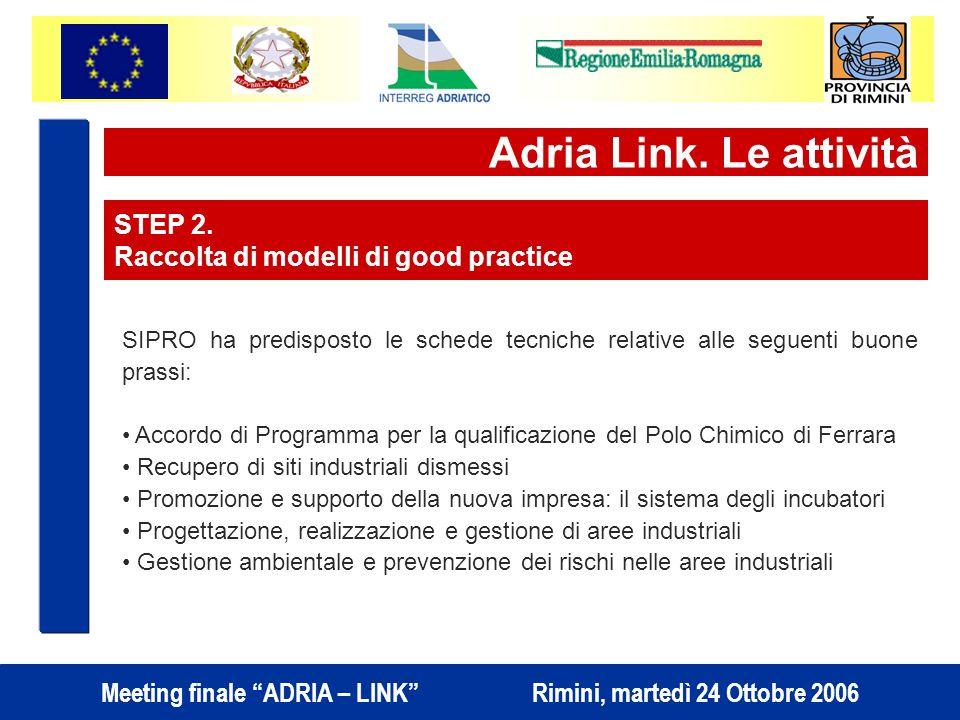 Meeting finale ADRIA – LINK Rimini, martedì 24 Ottobre 2006 Adria Link.