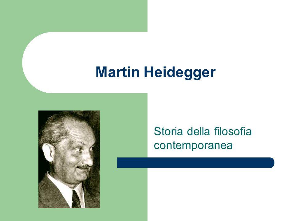 Martin Heidegger Storia della filosofia contemporanea