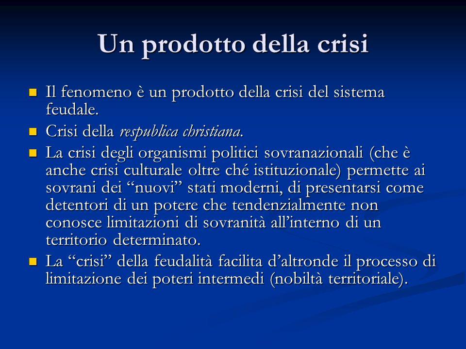 Un prodotto della crisi Il fenomeno è un prodotto della crisi del sistema feudale. Il fenomeno è un prodotto della crisi del sistema feudale. Crisi de