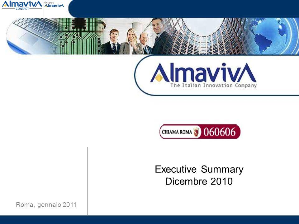 Executive Summary Dicembre 2010 Roma, gennaio 2011