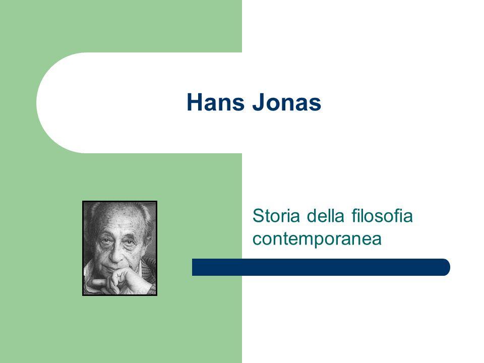 Hans Jonas Storia della filosofia contemporanea