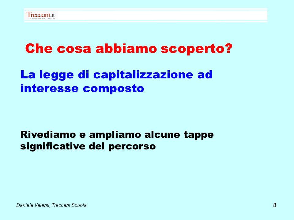 Daniela Valenti, Treccani Scuola 9 Legge di capitalizzazione ad interesse composto