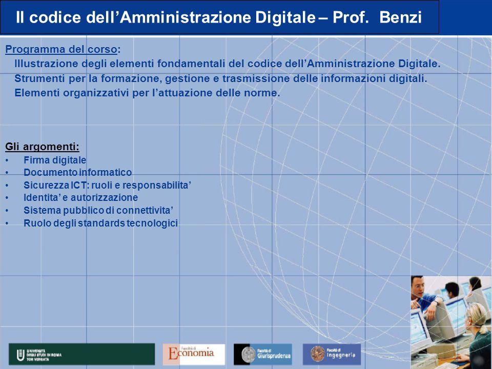 Il codice dellAmministrazione Digitale – Prof.