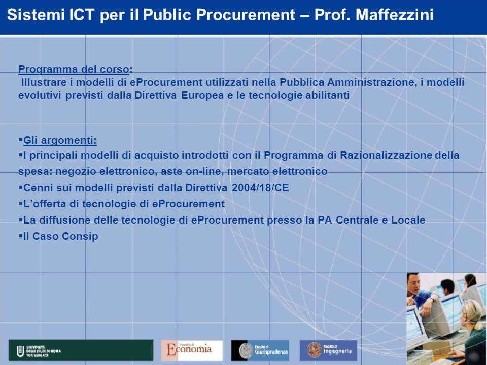 Sistemi ICT di supporto agli acquisti – Prof.