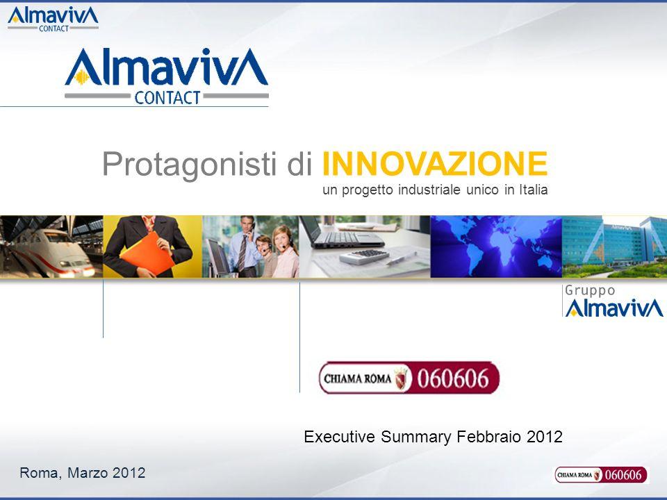 Roma, Marzo 2012 Executive Summary Febbraio 2012 Protagonisti di INNOVAZIONE un progetto industriale unico in Italia