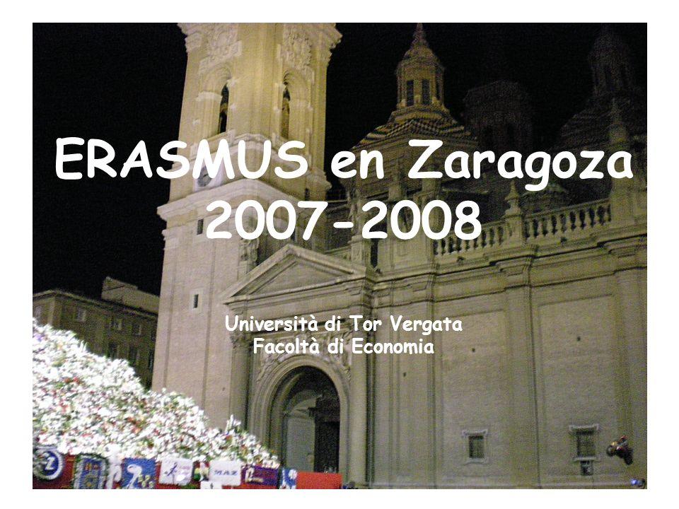 2 Erasmus en Zaragoza La città....
