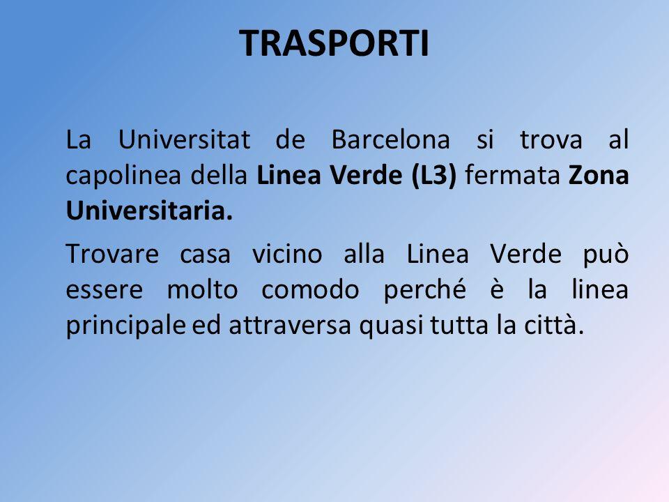 La Universitat de Barcelona si trova al capolinea della Linea Verde (L3) fermata Zona Universitaria.