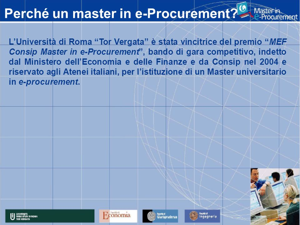 Perché un master in e-Procurement.