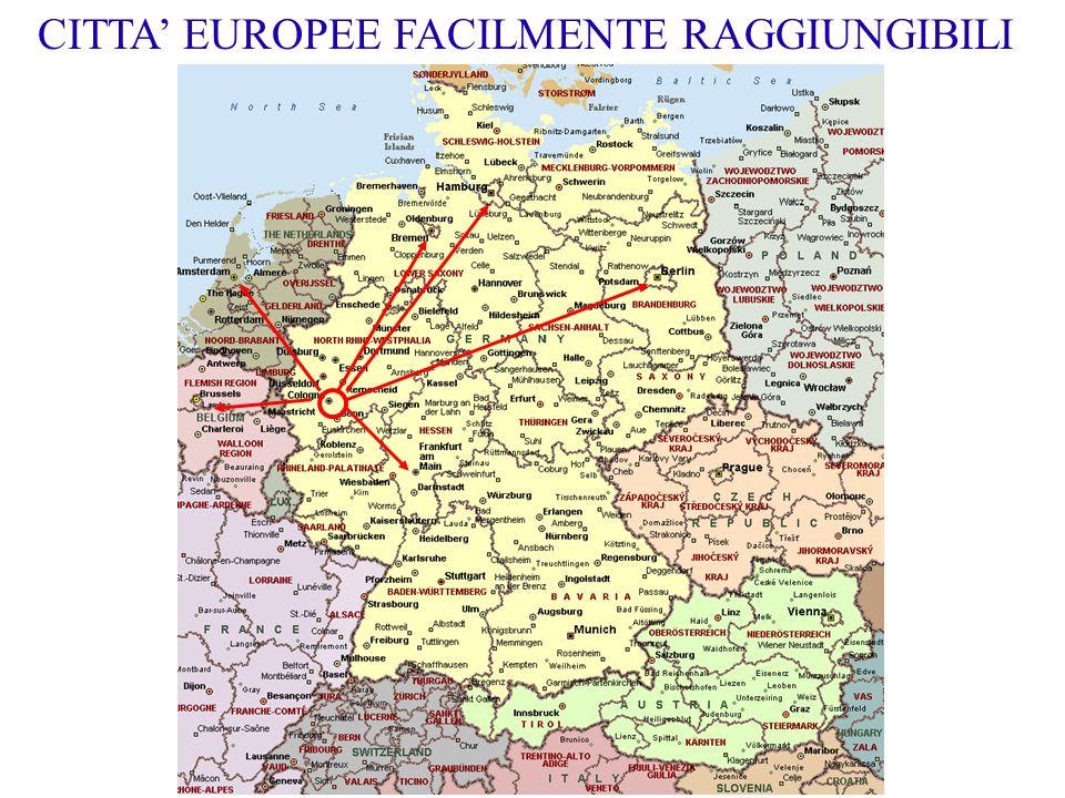 CITTA EUROPEE FACILMENTE RAGGIUNGIBILI