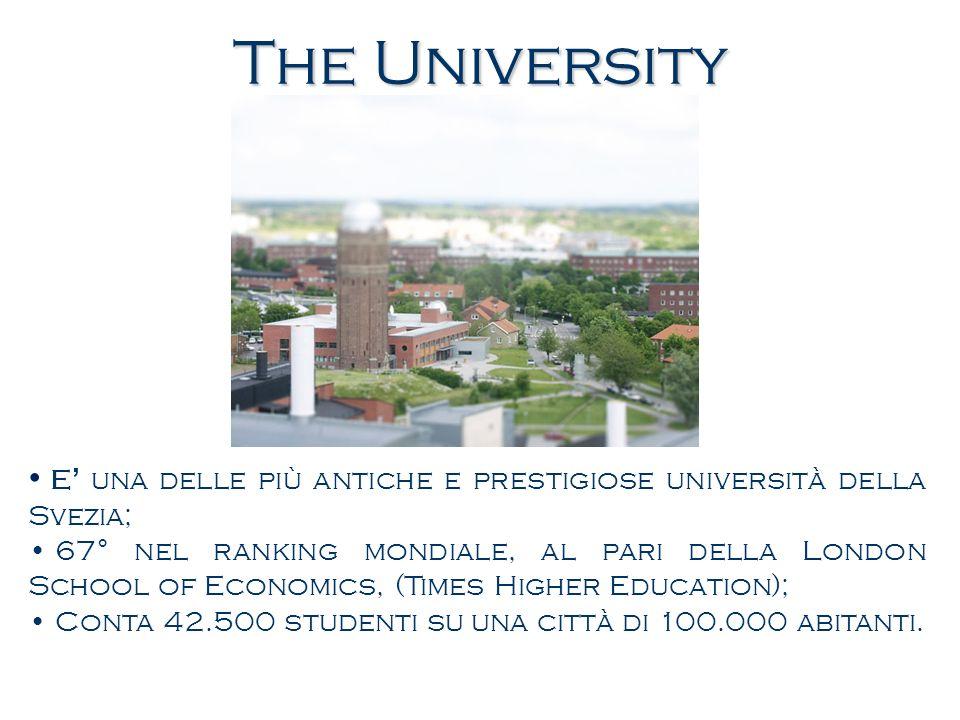 The University E una delle più antiche e prestigiose università della Svezia; 67° nel ranking mondiale, al pari della London School of Economics, (Tim