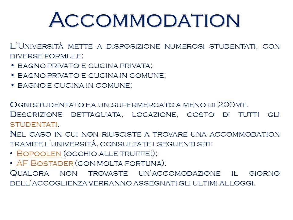 Accommodation LUniversità mette a disposizione numerosi studentati, con diverse formule: bagno privato e cucina privata; bagno privato e cucina in com