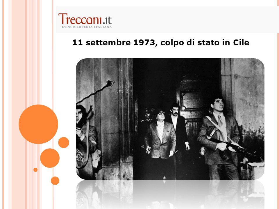 11 settembre 1973, colpo di stato in Cile