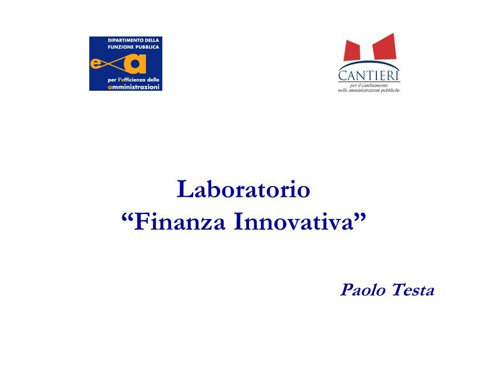 Laboratorio Finanza Innovativa Paolo Testa