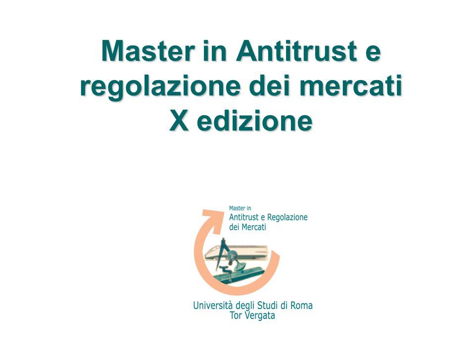 Master in Antitrust e regolazione dei mercati X edizione