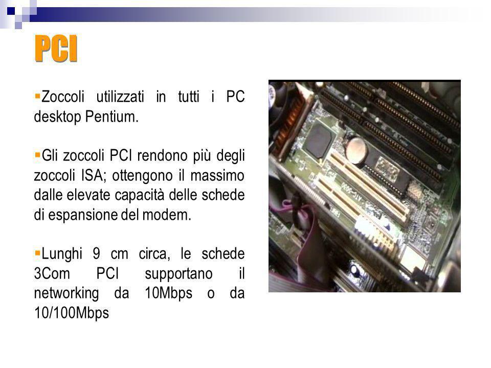 PCI Zoccoli utilizzati in tutti i PC desktop Pentium.