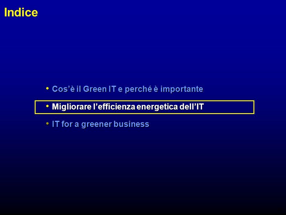 13 Conosci il tuo nemico Fatti L86% dei dipartimenti ICT in UK non conosce il peso delle proprie emissioni di CO 2 L86% dei dipartimenti ICT in UK non conosce il peso delle proprie emissioni di CO 2 In Italia il 95% dei responsabili dei sistemi informativi non conoscono lentità dei costi energetici dei loro sistemi In Italia il 95% dei responsabili dei sistemi informativi non conoscono lentità dei costi energetici dei loro sistemi Chi paga la bolletta spesso non è la stessa persona che paga i server (in Italia 81% dei casi) Chi paga la bolletta spesso non è la stessa persona che paga i server (in Italia 81% dei casi) Fonte: EILT (2007); Indagine condotta dal Politecnico di Milano su un campione di 138 aziende italiane Limpatto ambientale delle diverse attività di unorganizzazione spesso è sconosciuto e non è monitorato Limpatto ambientale delle diverse attività di unorganizzazione spesso è sconosciuto e non è monitorato E difficile ottimizzare ciò che non si conosce E difficile ottimizzare ciò che non si conosce