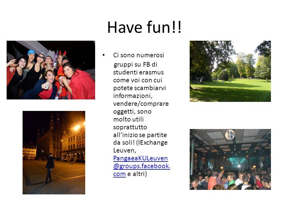 Have fun!! Ci sono numerosi gruppi su FB di studenti erasmus come voi con cui potete scambiarvi informazioni, vendere/comprare oggetti, sono molto uti