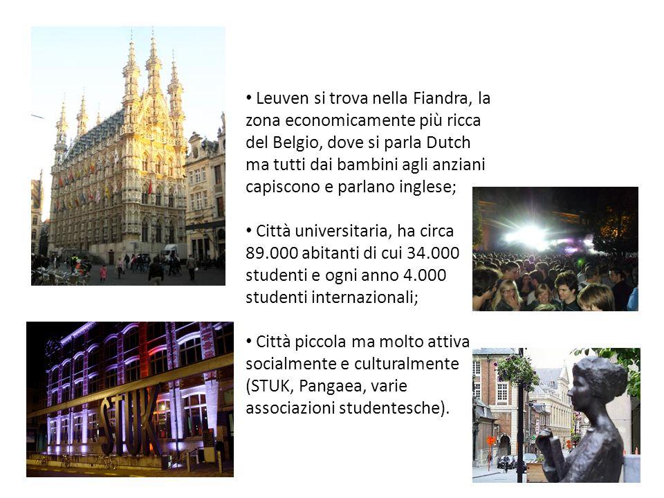 Leuven si trova nella Fiandra, la zona economicamente più ricca del Belgio, dove si parla Dutch ma tutti dai bambini agli anziani capiscono e parlano