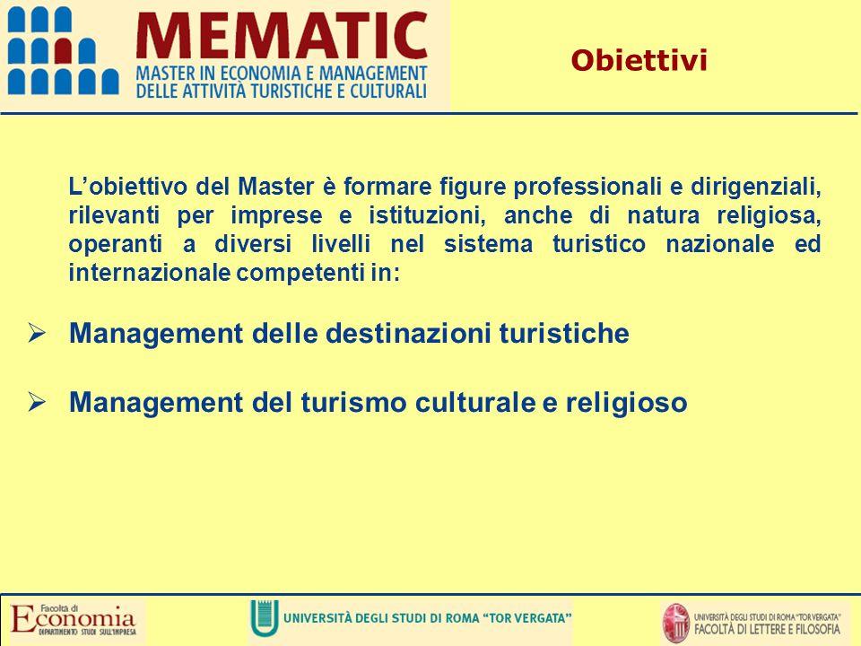 Lobiettivo del Master è formare figure professionali e dirigenziali, rilevanti per imprese e istituzioni, anche di natura religiosa, operanti a divers