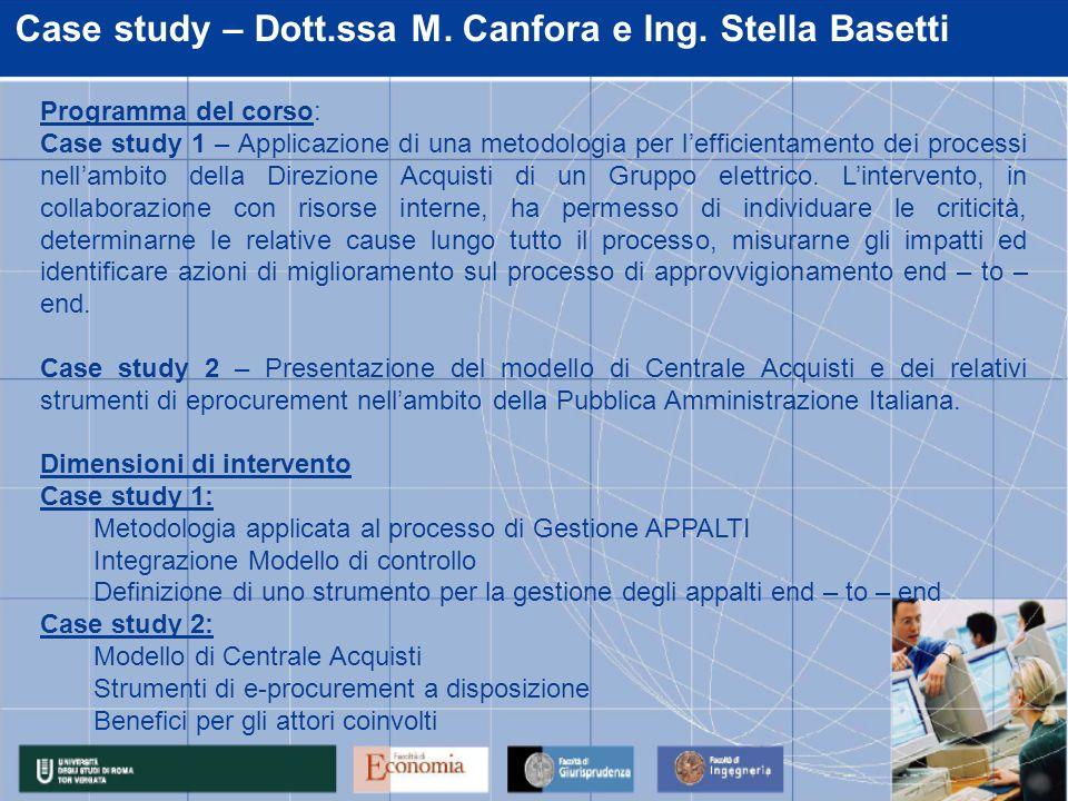 Case study – Dott.ssa M. Canfora e Ing.