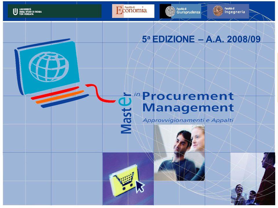 5 a EDIZIONE – A.A. 2008/09