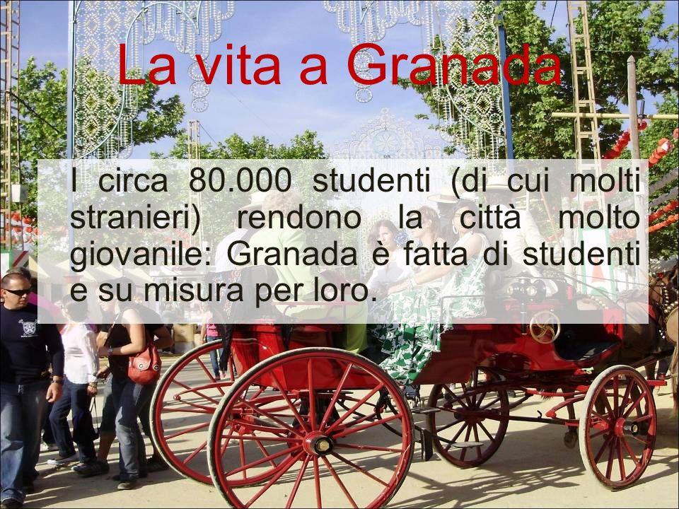 La vita a Granada I circa 80.000 studenti (di cui molti stranieri) rendono la città molto giovanile: Granada è fatta di studenti e su misura per loro.