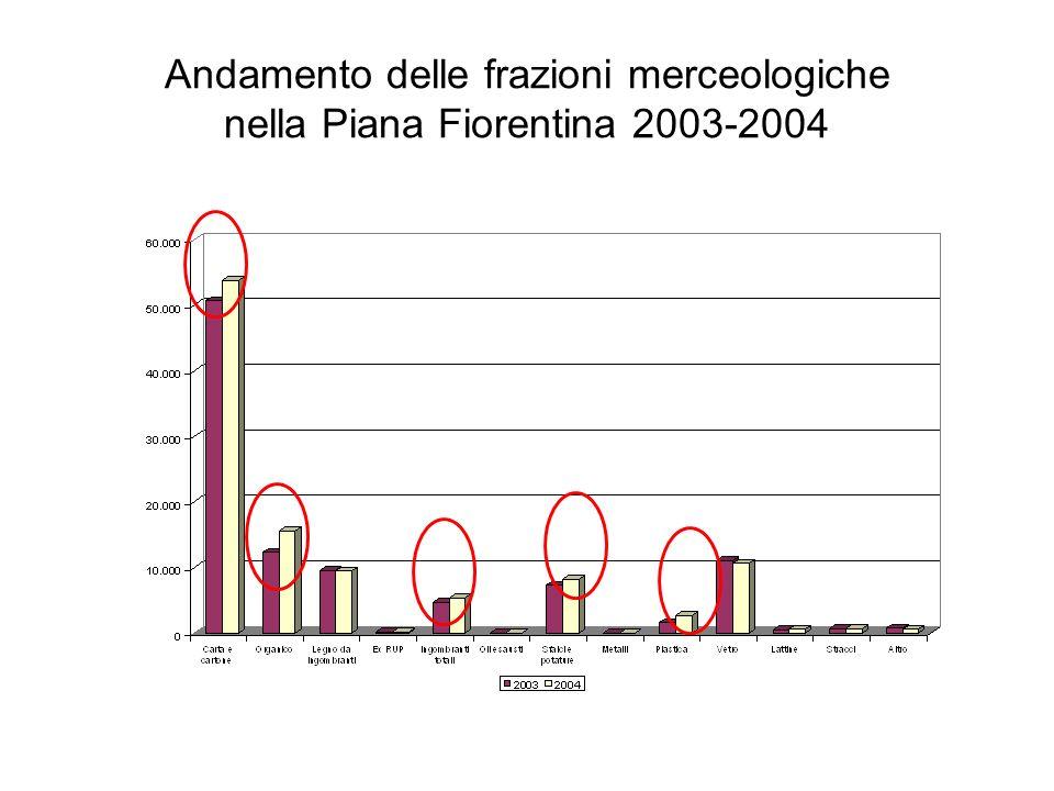 Andamento delle frazioni merceologiche nella Piana Fiorentina 2005-2006