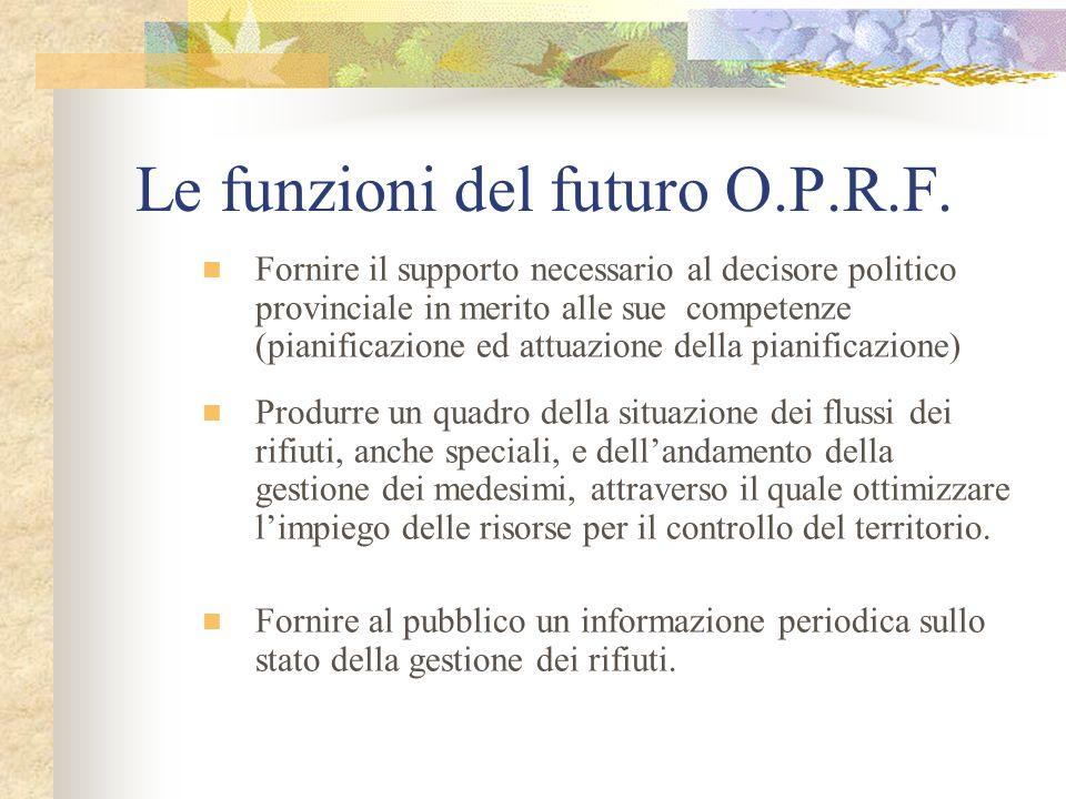 La novità della nostra idea La novità dellO.P.R.F.