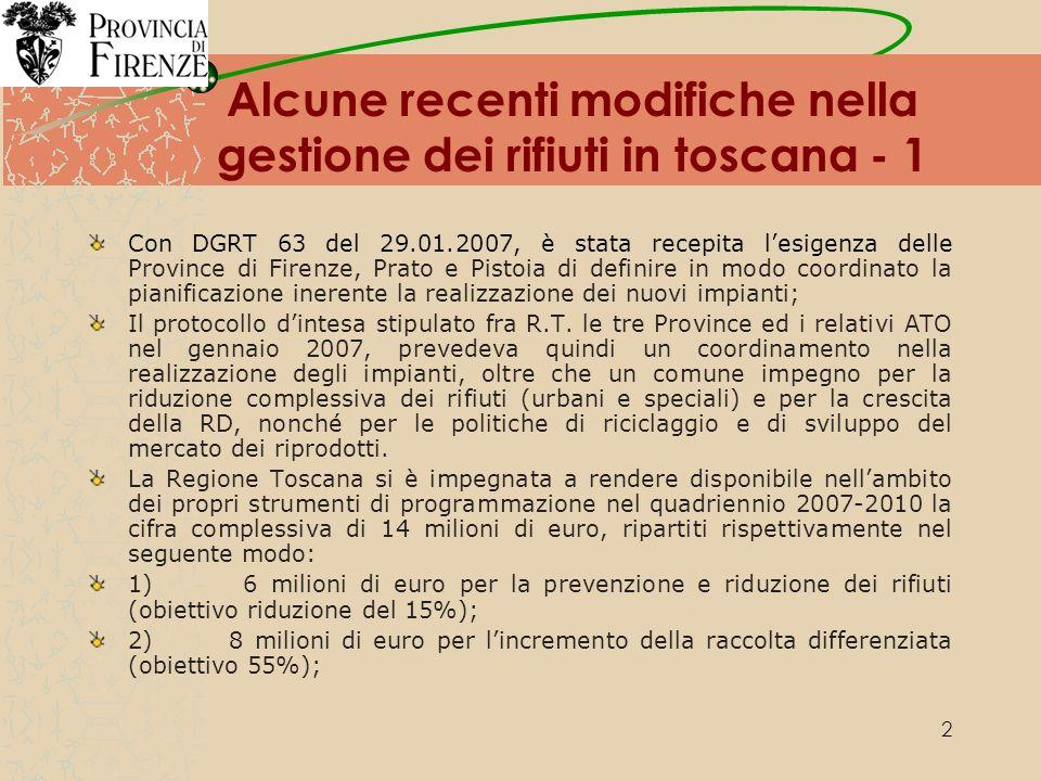13 La produzione dei rifiuti solidi urbani nel 2007 nellATO Toscana Centro RSU totali prodotti: 1.042.093 t/a Valore procapite annuo: 670,72 Kg/ab*anno