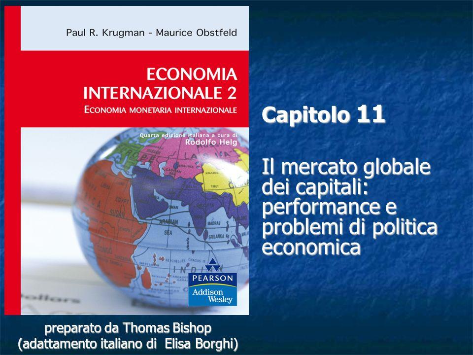 11-32 Cooperazione internazionale sulla regolamentazione Gli accordi di Basilea (1988 e Basilea II previsto per il 2006-2008) forniscono standard di regolamentazione e responsabilizzazione standard per le istituzioni finanziarie internazionali Gli accordi del 1988 cercarono di standardizzare le misure del capitale bancario tra i paesi.