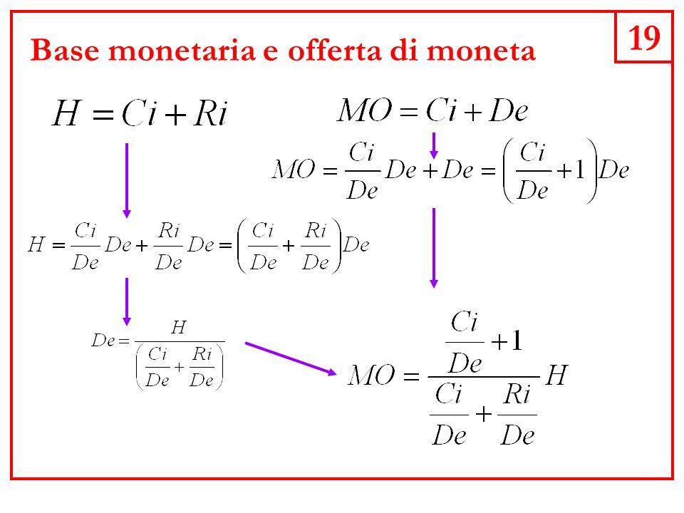 19 Base monetaria e offerta di moneta